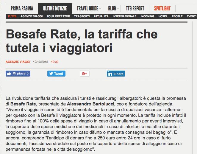 BeSafe Rate TTG