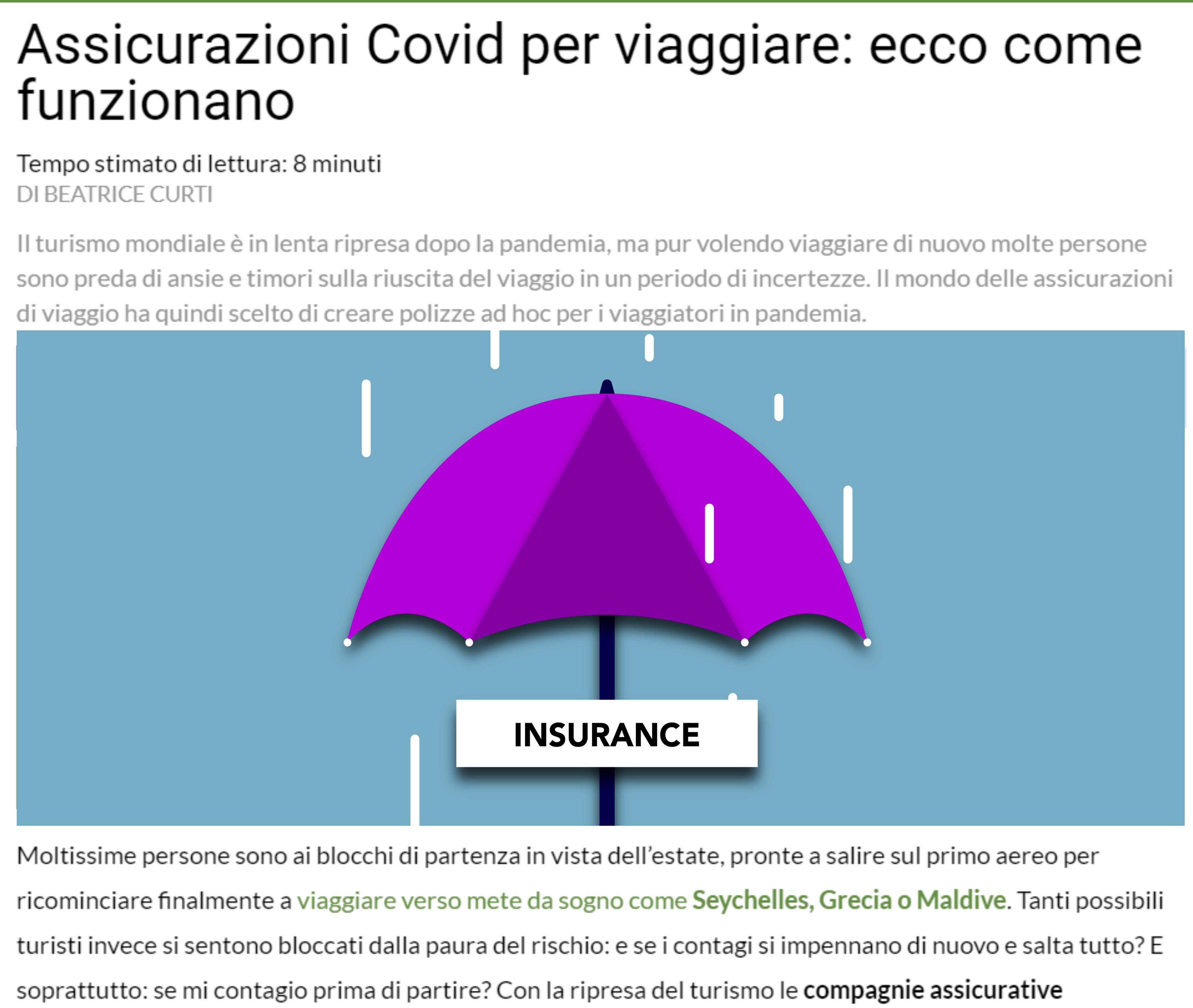 BeSafe Rate - TrendOnline Assicurazioni Covid per viaggiare